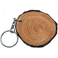 Natural Wood With Rings Keyring