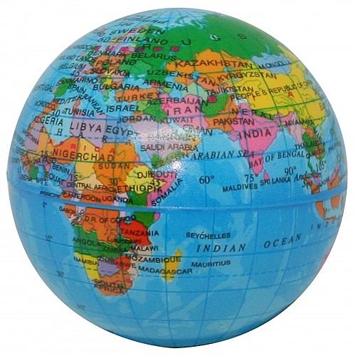 """Printed Globe Pu Ball 3"""""""