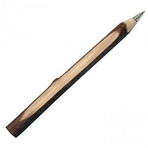 Wooden Twig Pen With Bark