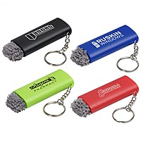 Brush Off Led Light Key Chain