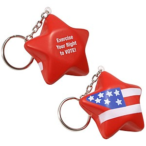 Patriotic Star Key Chain
