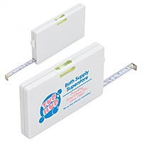 Tape Measure Card With Level Indicator