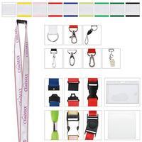 "1"" Polyester With Ribbon Lanyard"