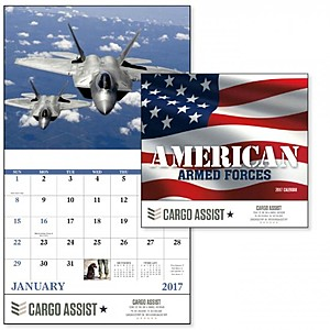 American Armed Forces Stapled Calendar