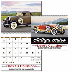 Antique Autos Spiral Calendar
