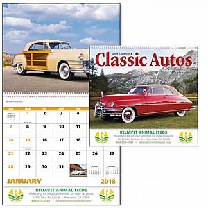Classic Autos Spiral Calendar