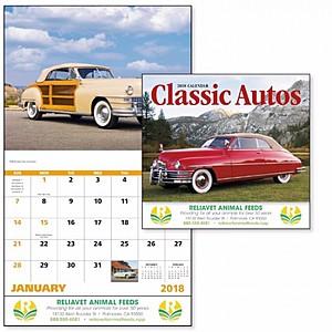 Classic Autos Stapled Calendar