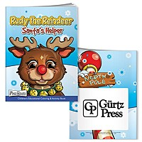 Coloring Book With Mask: Rudy Reindeer