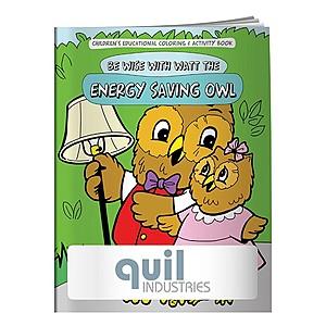 Coloring Book: Energy Saving Owl