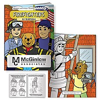 Coloring Book: Firefighters In Uniform