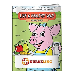 Coloring Book: Live Healthy Way Every Day
