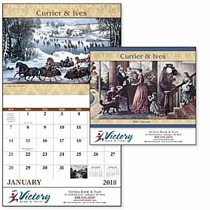 Currier Ives Stapled Calendar