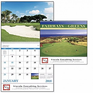 Fairways Greens Spiral Calendar