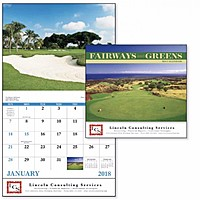 Fairways Greens Stapled Calendar