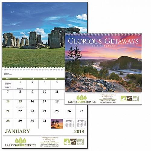 Glorious Getaways Spiral Calendar
