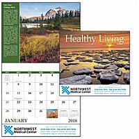 Healthy Living Stapled Calendar
