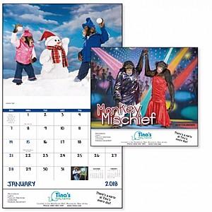 Monkey Mischief Stapled Calendar