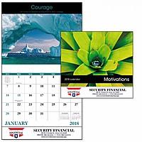 Motivations Stapled Calendar