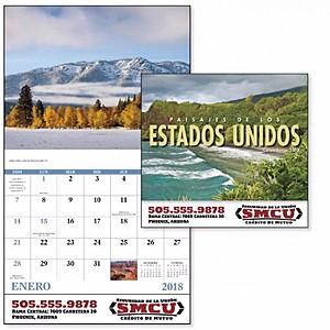 Paisajes Do Los Estados Unidos Stapled Calendar