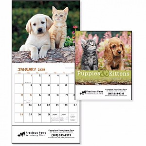 Puppies Kittens Mini Calendar