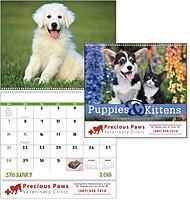Puppies Kittens Spiral Calendar