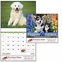 Puppies Kittens Stapled Calendar