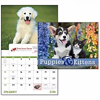 Puppies Kittens Window Calendar