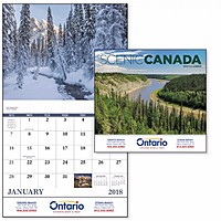 Scenic Canada Stapled Calendar