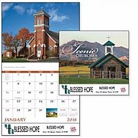 Scenic Churches Stapled Calendar