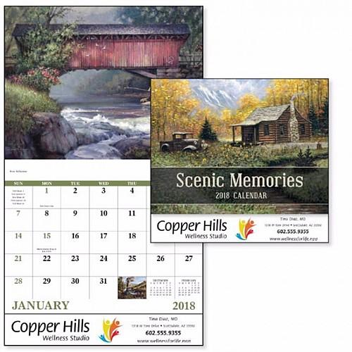 Scenic Memories Stapled Calendar
