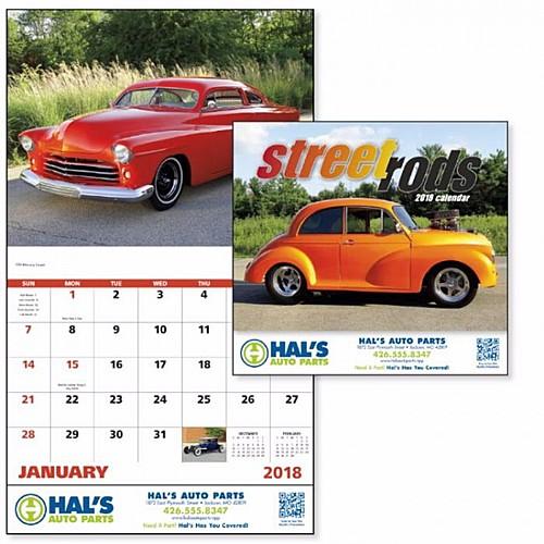 Street Rods Stapled Calendar