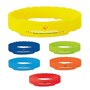 Twisted Silicone Awareness Bracelet