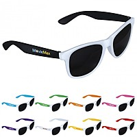 Two Tone White Frame Sunglasses