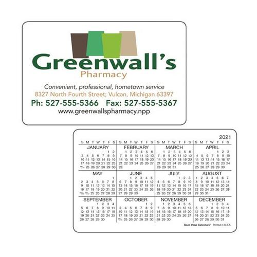 Wallet Card Horizontal Calendar
