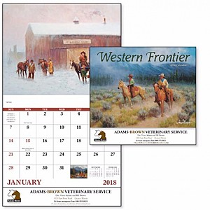 Western Frontier Stapled Calendar