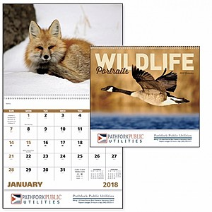 Wildlife Portraits Spiral Calendar