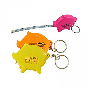 Pig Tape Measure W/Key Chain