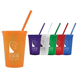 16 Oz. Jewel Tumbler W/ Lid & Straw