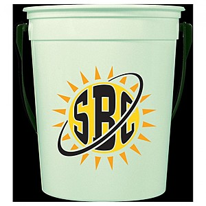 32 Oz. Glow In The Dark Pail With Handle