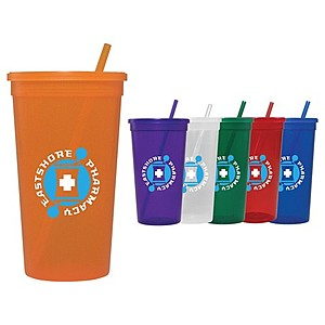 32 Oz. Jewel Tumbler W/ Lid & Straw