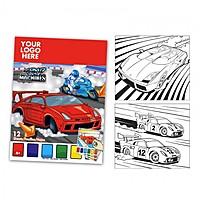 Car Themed Watercolor Paint Book