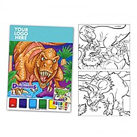 Dinosaurthemed Watercolor Paint Book
