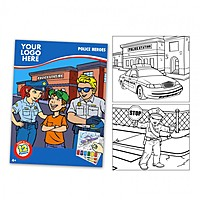 Police Themed Watercolor Paint Book