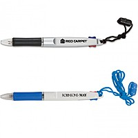2 Color Neck Pen With Safety Breakaway