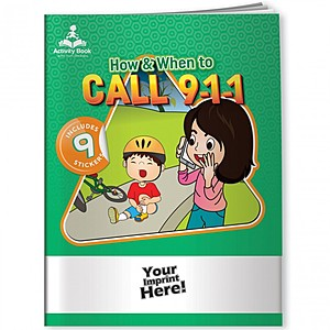 Activity Book W And Fun Stickers   How & When To Call 9 1 1