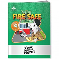 Activity Book W And Fun Stickers   Staying Fire Safe At Home