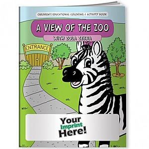 Coloring Book   A View Of The Zoo With Zola Zebra