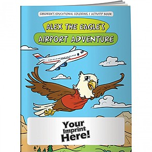 Coloring Book   Alex The Eagle's Airport Adventure