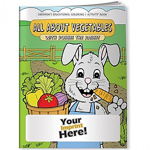 Coloring Book   All About Vegetables With Robbie Rabbit