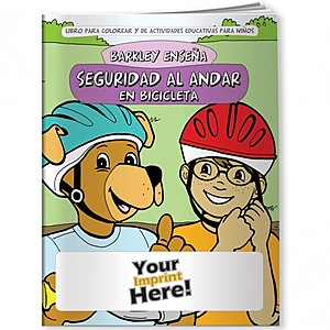 Coloring Book   Barkley Teaches Bicycle Safety (Spanish)